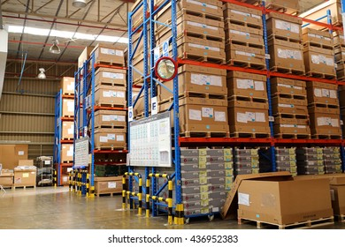 Rayong - Thailand , June 13 - 2016 : Warehouse storage in manufacturing keep material for supply to production process in Thailand.