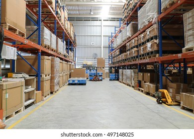 Rayong Thailand , October 06 - 2016 : factory warehouse use for keep material supply to customer in Thailand.