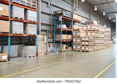 Rayong Thailand , October 31 , 2017 : Factory warehouse shelf for carry material supply customer in Thailand.