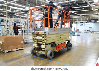 Rayong Thailand , September 23 - 2016 : lifter truck use in factory for maintenance and service