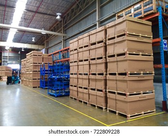 Rayong Thailand , September 27 - 2017 : warehouse in factory building at Thailand plant.