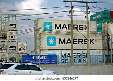 RAYONG-THAILAND-FEBRUARY 18 : The store of containers near the road on February 18, 2016, Rayong Province, Thailand