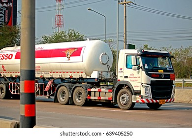 RAYONG-THAILAND-FEBRUARY 18 : Transportation truck on the road on February 18, 2016 Rayong Province, Thailand