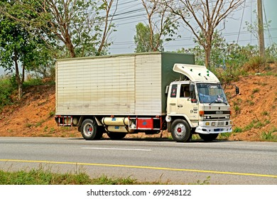 RAYONG-THAILAND-FEBRUARY 18 : The Transportation truck on the road, February 18, 2016 Rayong Province, Thailand