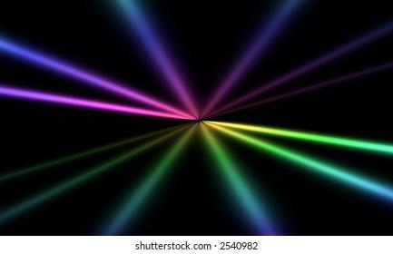 Rays Of Spectrum Light