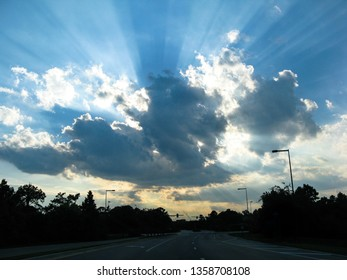 Rays of Sunshine coming out of clouds