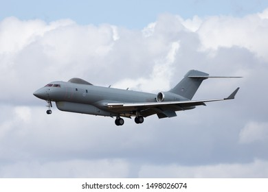 """Raytheon Sentinel R.1 about to land at RAF Waddington on 4th September 2019 during exercise """"Cobra Warrior"""""""