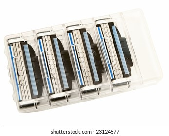 razor for shave against the white background