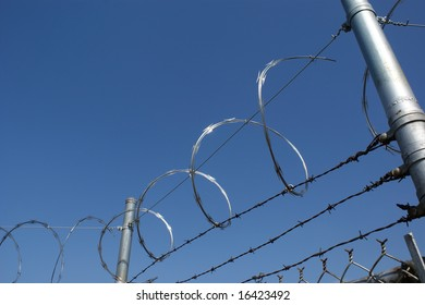 Razor Wire Atop Fence
