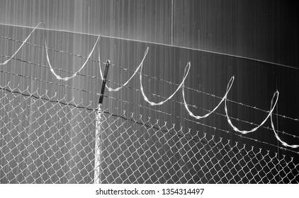 Razor Wire on Knob Hill