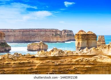 The Razorback rock in Port Campbell National Park, Victoria, Australia