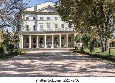 Razumovsky Palace. Kirill Razumovsky as Hetman of Ukraine decided to move capital of Cossack State to Baturyn where was built great architectural complex in 1803 (architect Charles Cameron). Ukraine.