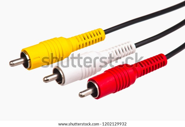 Rca Input Audio Video Signals Connection Stock Photo (Edit Now