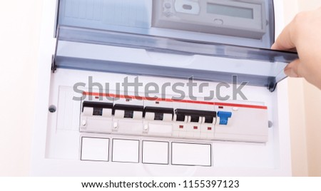 Pleasant Rcd Circuit Breaker Board Fusebox Apartment Stock Photo Edit Now Wiring Database Gramgelartorg