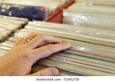 Reaching for music on classic vinyl records