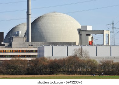 Reactor Building and Cooling Towers and Monitoring System of a nuclear power plant, NPP