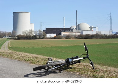 Reactor Building and Cooling Towers of a nuclear power plant, NPP