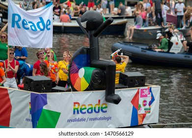 Reade Revalidatie En Reumatologie Boat At The Gaypride Amsterdam The Netherlands 2019