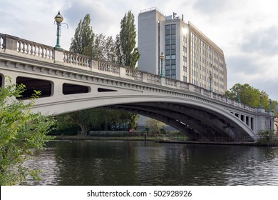 Reading Bridge over the River Thames at Reading in Berkshire.