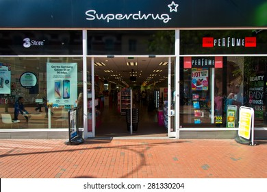 Reading, England - May13th, 2015: health and beauty retailer in the United Kingdom,It trades from over 850 stores across the UK and Ireland and employs over 12,000 people.