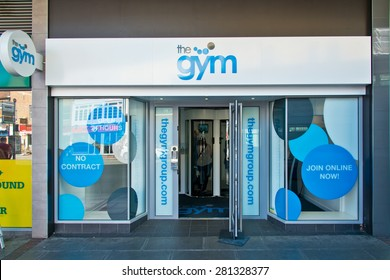 Reading, England - May13th, 2015:The Gym Reading - with cheap deals and offers on our pay as you go membership, open 24 hours a day