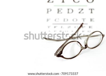 Reading Eyeglasses Long Sighted On Eye Stock Photo Edit Now
