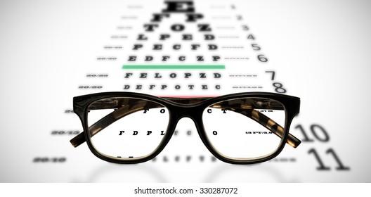 Reading glasses against eye test