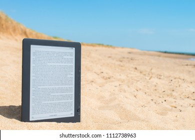 Reading on the beach