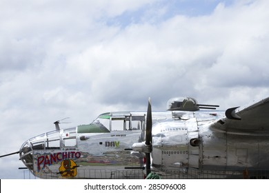 Reading, PA, USA - June 6, 2015 :  B25J WWII bomber at airshow.
