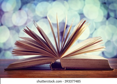 Reading, storytelling and education concept or bible and religion