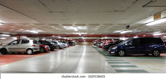 Reading, United Kingdom - January 30 2018:   Cars parked in The Broad Street Mall car park