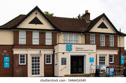 Reading, United Kingdom - June 23 2019:   The branch of the Co-op supermarket on South View Avenue