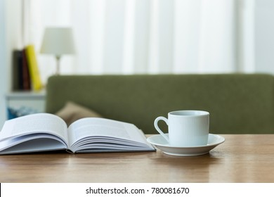 Reading while drinking coffee