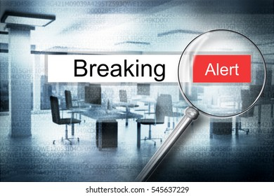 reading the word breaking browser search security alert 3D Illustration