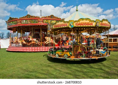 READING,ENGLAND-APRIL 11:The traditional fair in Berkshire,ENGLAND.Carters Steam Fair began in 1977 and runs to this day on April 11,2015.