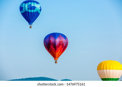 Readington, New Jersey, USA - July 27, 2019: 37th Annual QuickChek New Jersey Festival of Ballooning