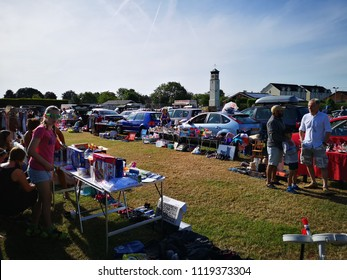 Reading,U.K-June 24,2018:Thatcham car boot sale is the biggest weekly boot sale.Usually takes place every Sunday from April through to November.