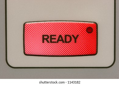 Ready button on a medical laser unit.
