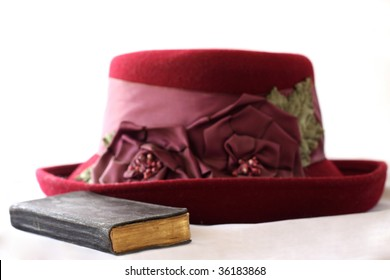 Ready for church, bible and hat for the lady