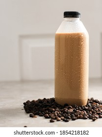 Ready to Drink Coffee in Plastic Bottle. Ready to Drink Coffee in Liter and Big Size Bottle Quite Popular during Pandemic
