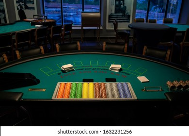 Ready for game blackjack table in casino