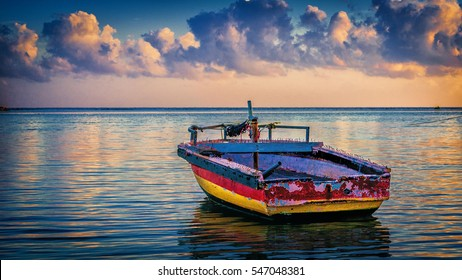 Ready to go - nothing but calm waters ahead for this small fishing boat