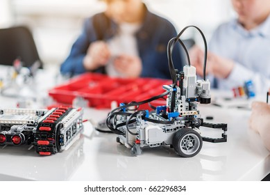 Ready made robots on table