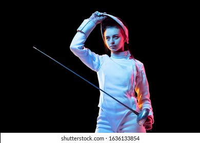 Fencing Girl Images, Stock Photos & Vectors | Shutterstock