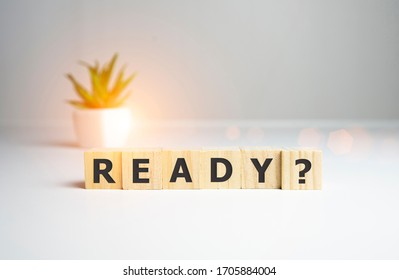 ready word on wooden cubes, business concept