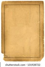 Real 1800s Antique Parchment Paper Background Texture