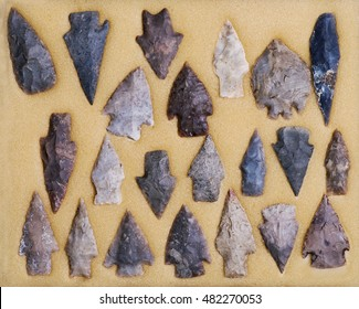 Real American Indian arrowheads found in Dripping Springs ,Texas.