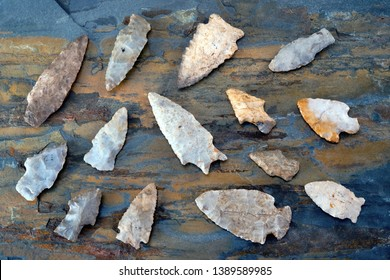 Real American Indian arrowheads made around 6-9 thousands years ago, they were found in East Texas.
