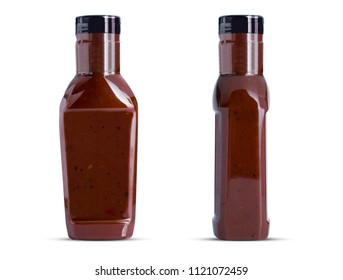 real  barbecue sauces  bottle mockup front and side
