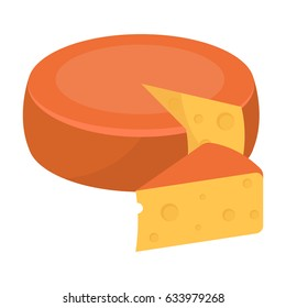 A real Belgian cheese.The dark Belgian wolf. Belgium single icon in cartoon style rater,bitmap symbol stock illustration.